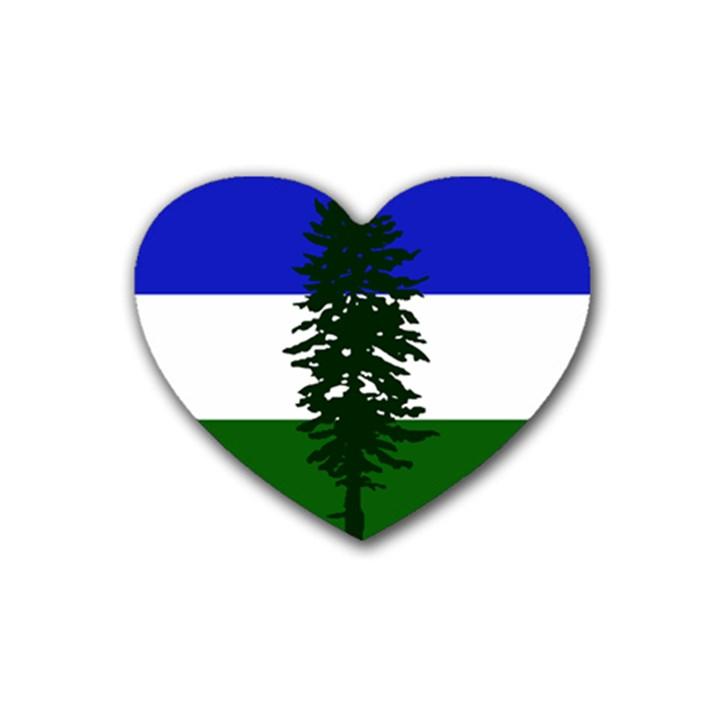 Flag of Cascadia Heart Coaster (4 pack)