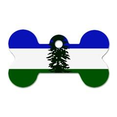 Flag Of Cascadia Dog Tag Bone (one Side)