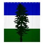 Flag of Cascadia Shower Curtain 66  x 72  (Large)  58.75 x64.8 Curtain