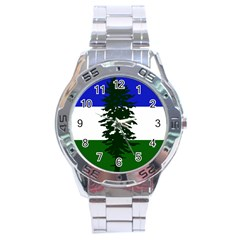 Flag Of Cascadia Stainless Steel Analogue Watch