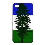 Flag of Cascadia Apple iPhone 4/4s Seamless Case (Black) Front