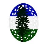 Flag of Cascadia Oval Filigree Ornament (Two Sides) Back