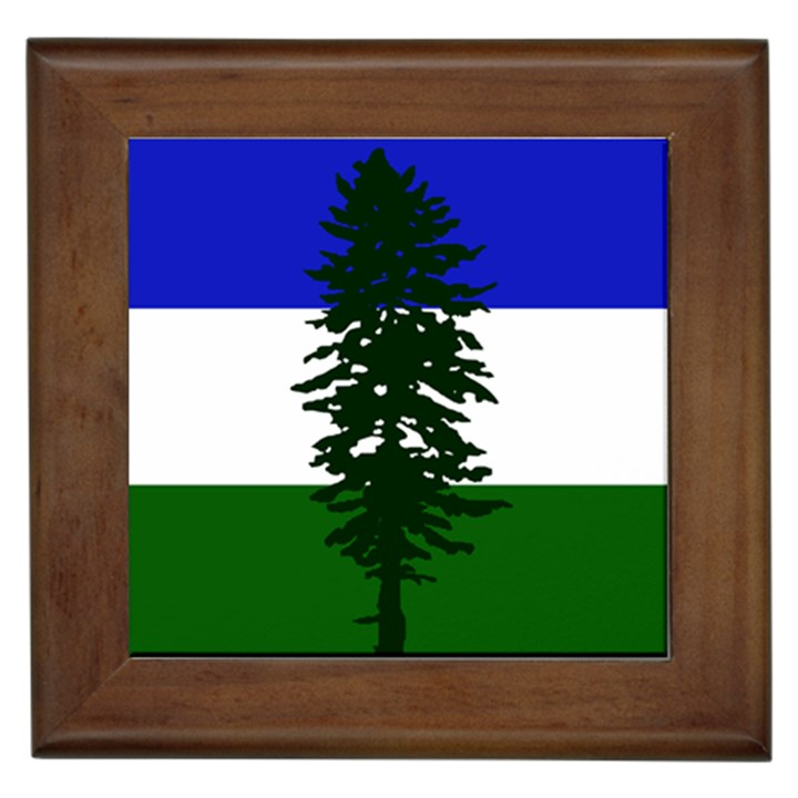 Flag of Cascadia Framed Tiles