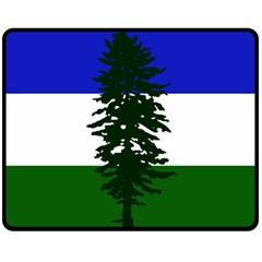Flag Of Cascadia Double Sided Fleece Blanket (medium)