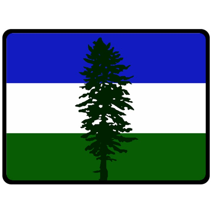 Flag of Cascadia Double Sided Fleece Blanket (Large)