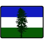 Flag of Cascadia Double Sided Fleece Blanket (Large)  80 x60 Blanket Back