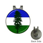 Flag of Cascadia Hat Clips with Golf Markers Front
