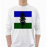 Flag of Cascadia White Long Sleeve T-Shirts Front