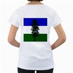 Flag of Cascadia Women s Loose-Fit T-Shirt (White) Back