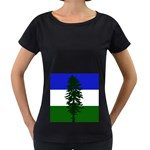 Flag of Cascadia Women s Loose-Fit T-Shirt (Black) Front