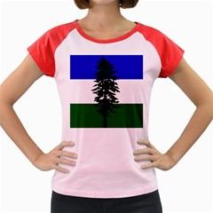 Flag Of Cascadia Women s Cap Sleeve T Shirt
