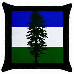 Flag Of Cascadia Throw Pillow Case (black)
