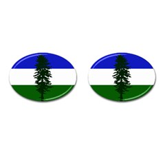 Flag Of Cascadia Cufflinks (oval)
