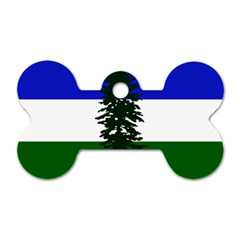 Flag Of Cascadia Dog Tag Bone (one Side)