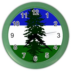 Flag Of Cascadia Color Wall Clocks