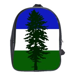 Flag Of Cascadia School Bag (large)