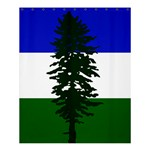 Flag of Cascadia Shower Curtain 60  x 72  (Medium)  54.25 x65.71 Curtain