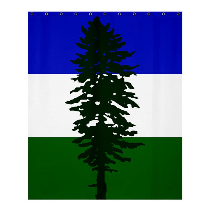 Flag of Cascadia Shower Curtain 60  x 72  (Medium)