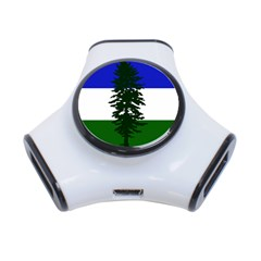 Flag Of Cascadia 3 Port Usb Hub