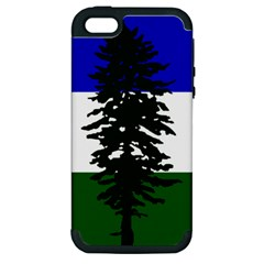 Flag Of Cascadia Apple Iphone 5 Hardshell Case (pc+silicone)