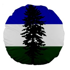 Flag Of Cascadia Large 18  Premium Round Cushions