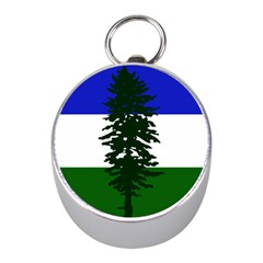 Flag Of Cascadia Mini Silver Compasses