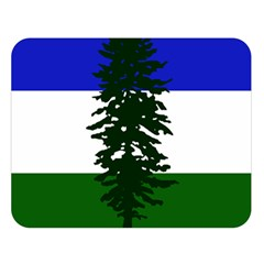 Flag Of Cascadia Double Sided Flano Blanket (large)