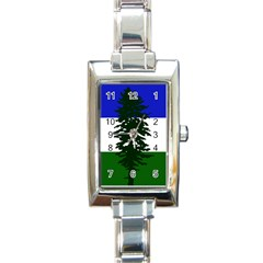 Flag 0f Cascadia Rectangle Italian Charm Watch