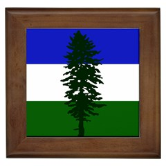 Flag 0f Cascadia Framed Tiles