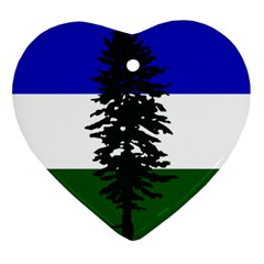 Flag 0f Cascadia Ornament (heart)