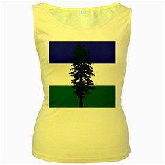 Flag 0f Cascadia Women s Yellow Tank Top