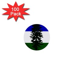 Flag 0f Cascadia 1  Mini Buttons (100 Pack)