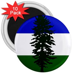 Flag 0f Cascadia 3  Magnets (10 Pack)