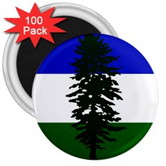 Flag 0f Cascadia 3  Magnets (100 Pack)