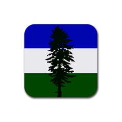 Flag 0f Cascadia Rubber Square Coaster (4 Pack)