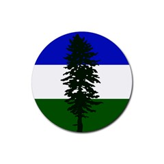 Flag 0f Cascadia Rubber Round Coaster (4 Pack)