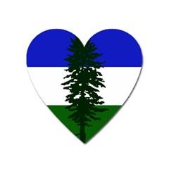 Flag 0f Cascadia Heart Magnet