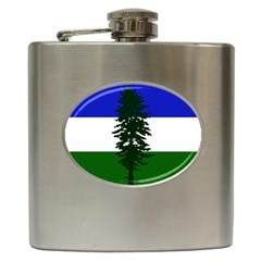 Flag 0f Cascadia Hip Flask (6 Oz)