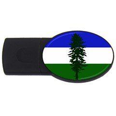 Flag 0f Cascadia Usb Flash Drive Oval (2 Gb)