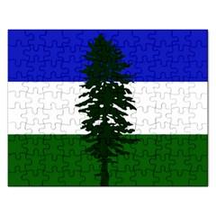 Flag 0f Cascadia Rectangular Jigsaw Puzzl