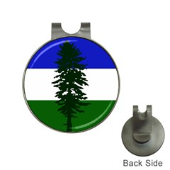Flag 0f Cascadia Hat Clips With Golf Markers