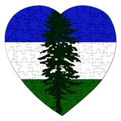 Flag 0f Cascadia Jigsaw Puzzle (heart)
