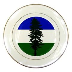 Flag 0f Cascadia Porcelain Plates