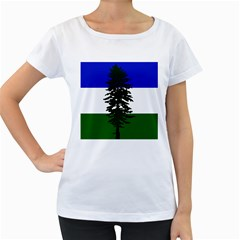 Flag 0f Cascadia Women s Loose Fit T Shirt (white)