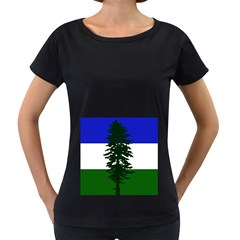 Flag 0f Cascadia Women s Loose Fit T Shirt (black)