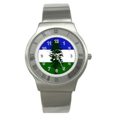 Flag 0f Cascadia Stainless Steel Watch