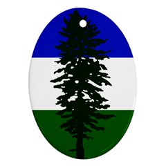 Flag 0f Cascadia Oval Ornament (two Sides)