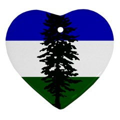 Flag 0f Cascadia Heart Ornament (two Sides)