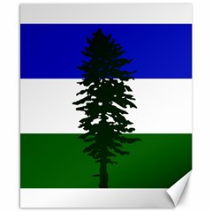 Flag 0f Cascadia Canvas 8  X 10