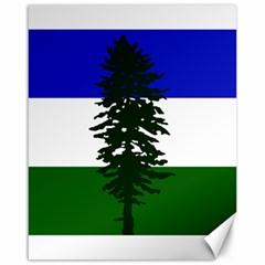 Flag 0f Cascadia Canvas 16  X 20